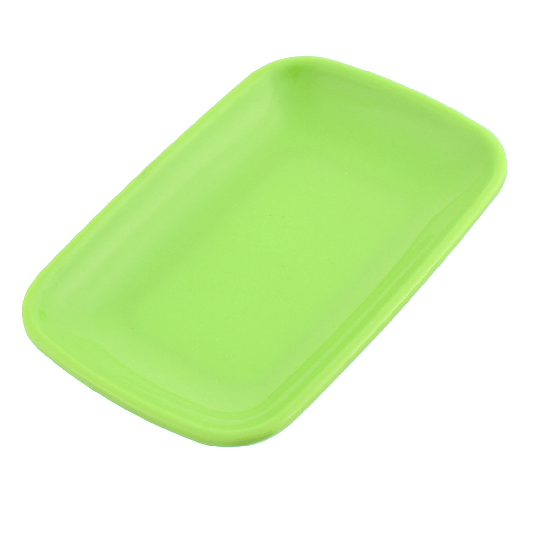 Restaurant Plastic Rectangle Shaped Dessert Pickles Appetizer Plate Dish Green