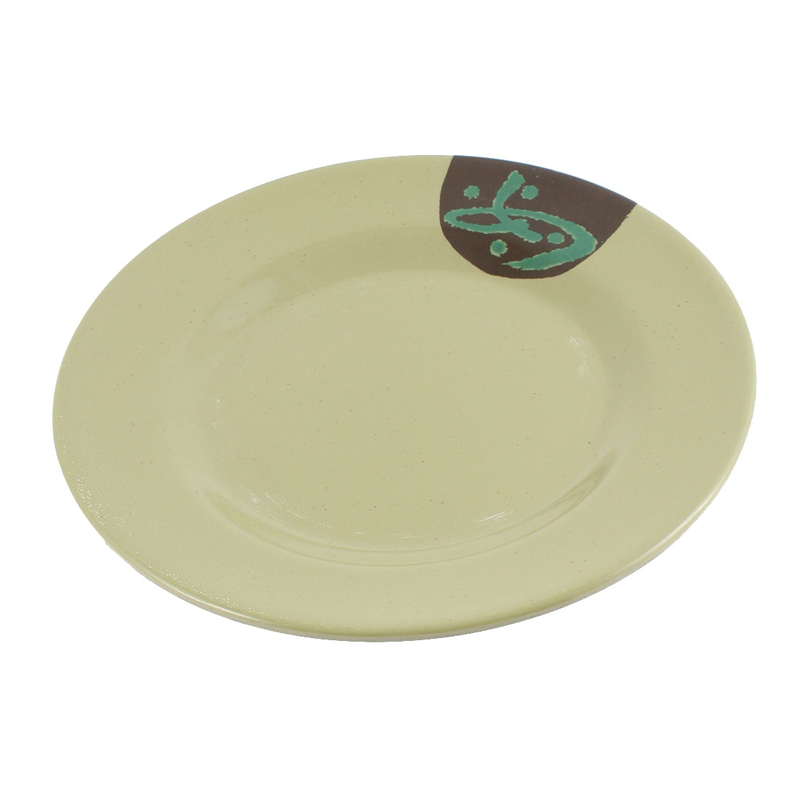 Character Printed Food Serving Dish Plate Kitchenware Army Green 9 Inch Dia