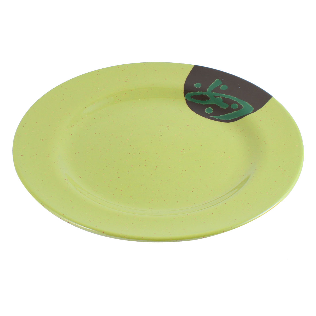 "Restaurant Plastic Round Shaped Western Food Dish Plate 10"" Dia"