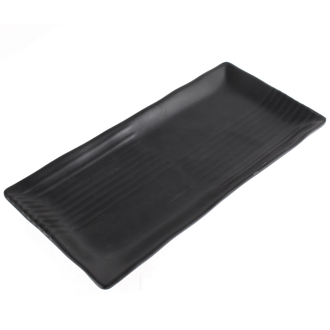 Restaurant Tableware Plastic Rectangle Shaped Sushi Barbecue Dish Plate
