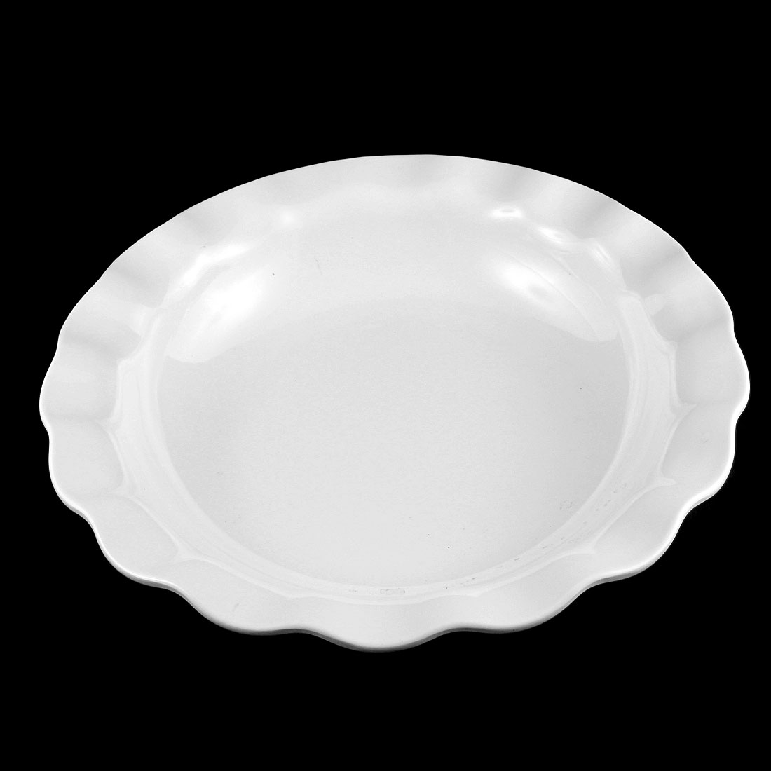 "Hotel Lotus Design Fruits Dessert Serving Dish Plate White 14"" Dia"