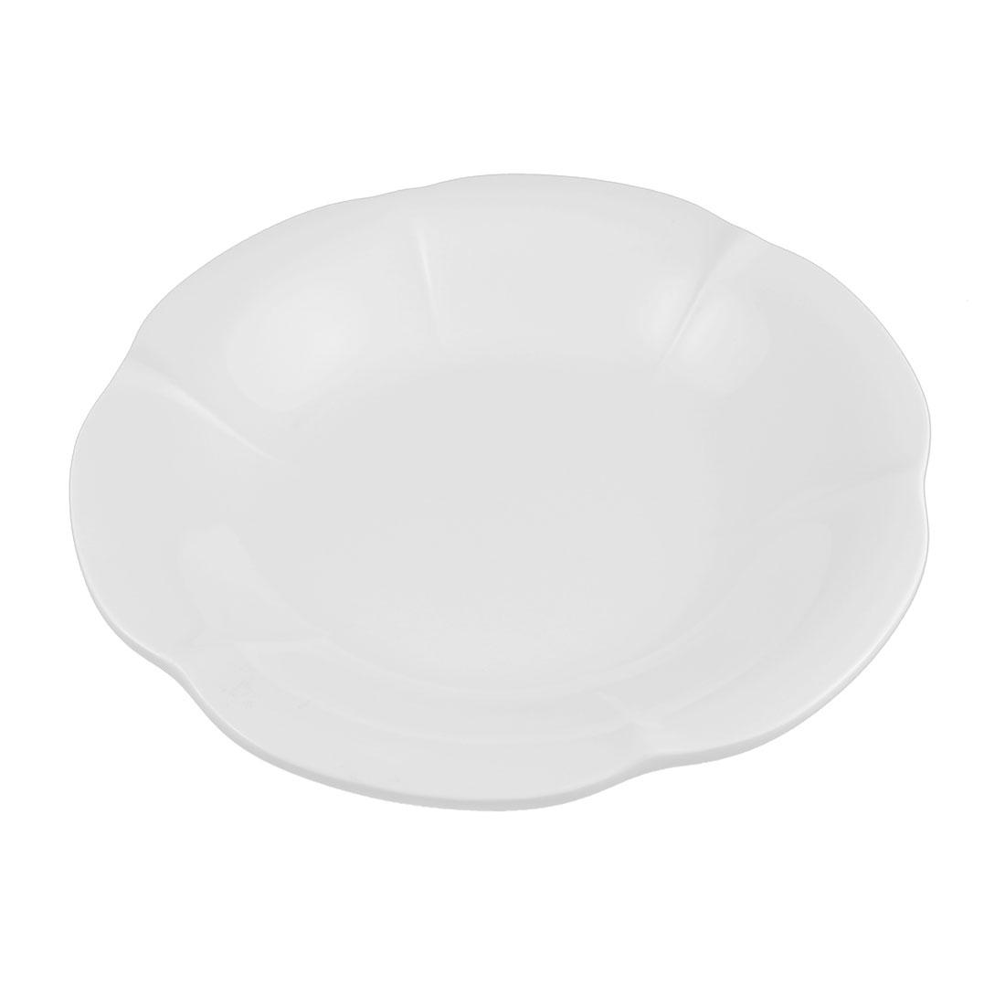 Hotel Plastic Lotus Design Salad Dessert Dish Plate White