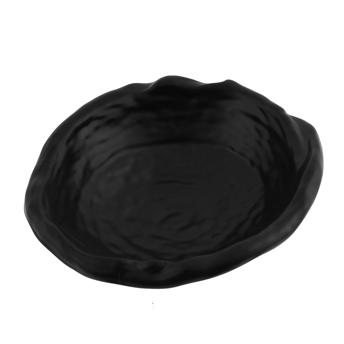Japanese Style Plastic Oval Shaped Food Bowl Dish Plate Tableware Black
