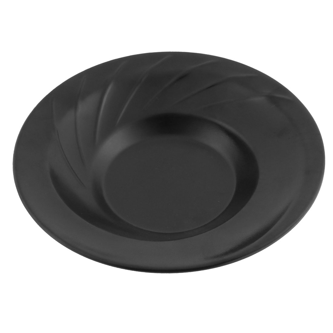 Restaurant Plastic Round Shaped Food Soup Dish Plate Tableware Black