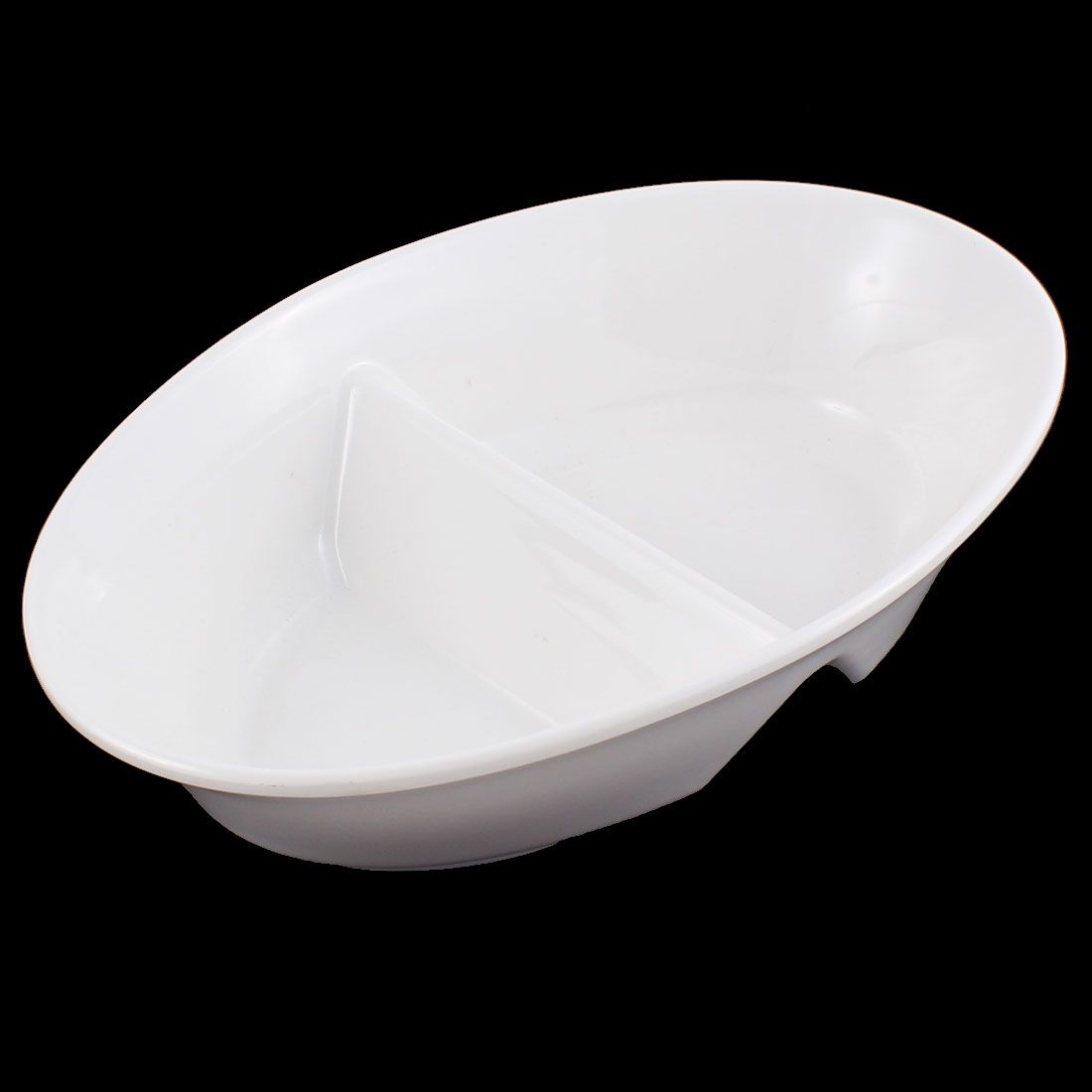 Dinnerware Oval Shaped Two Components Dish Plate White