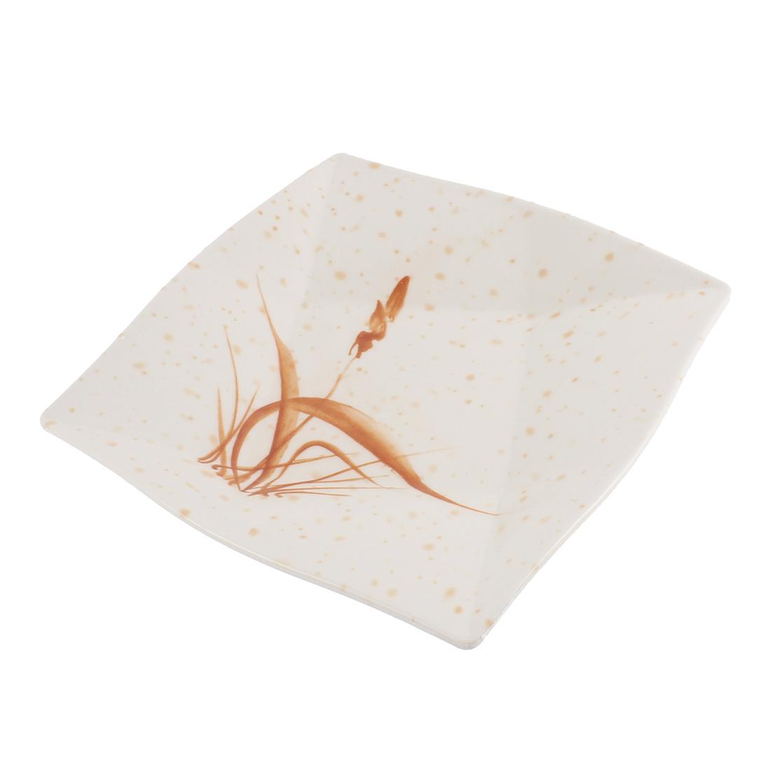 "Restaurant Plastic Grass Pattern Square Shape Dish 9"" x 9"""