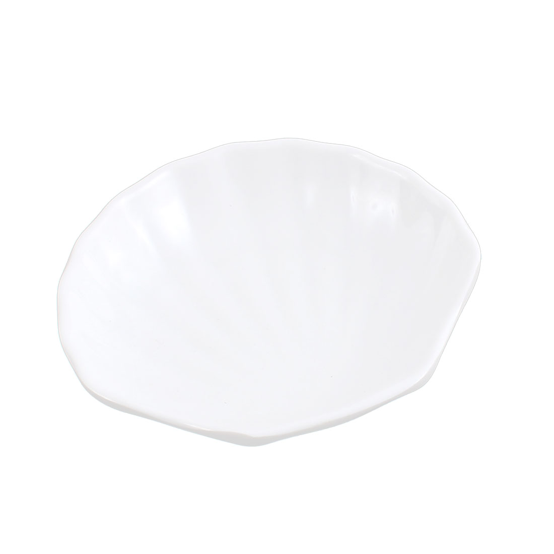 Kitchen Plastic Shell Shaped Sauce Soy Dish Plate White