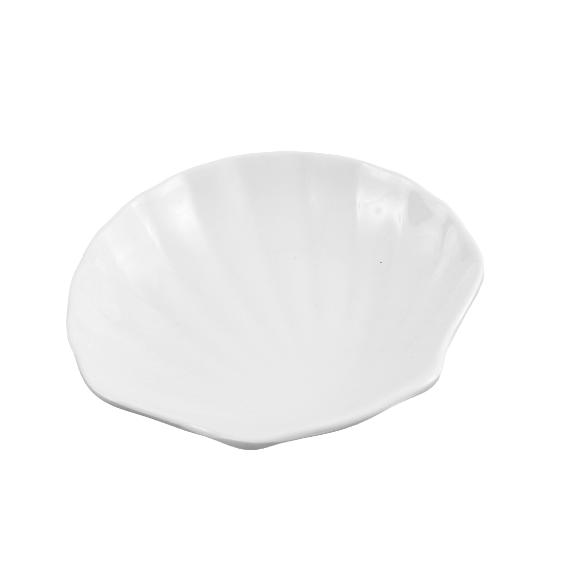 Kitchen Plastic Shell Shaped Wasabi Sauce Soy Dish Plate White