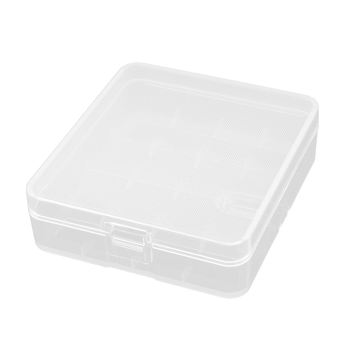 Clear White Plastic Storage Battery Box Case for 4 x 18650 Batteries