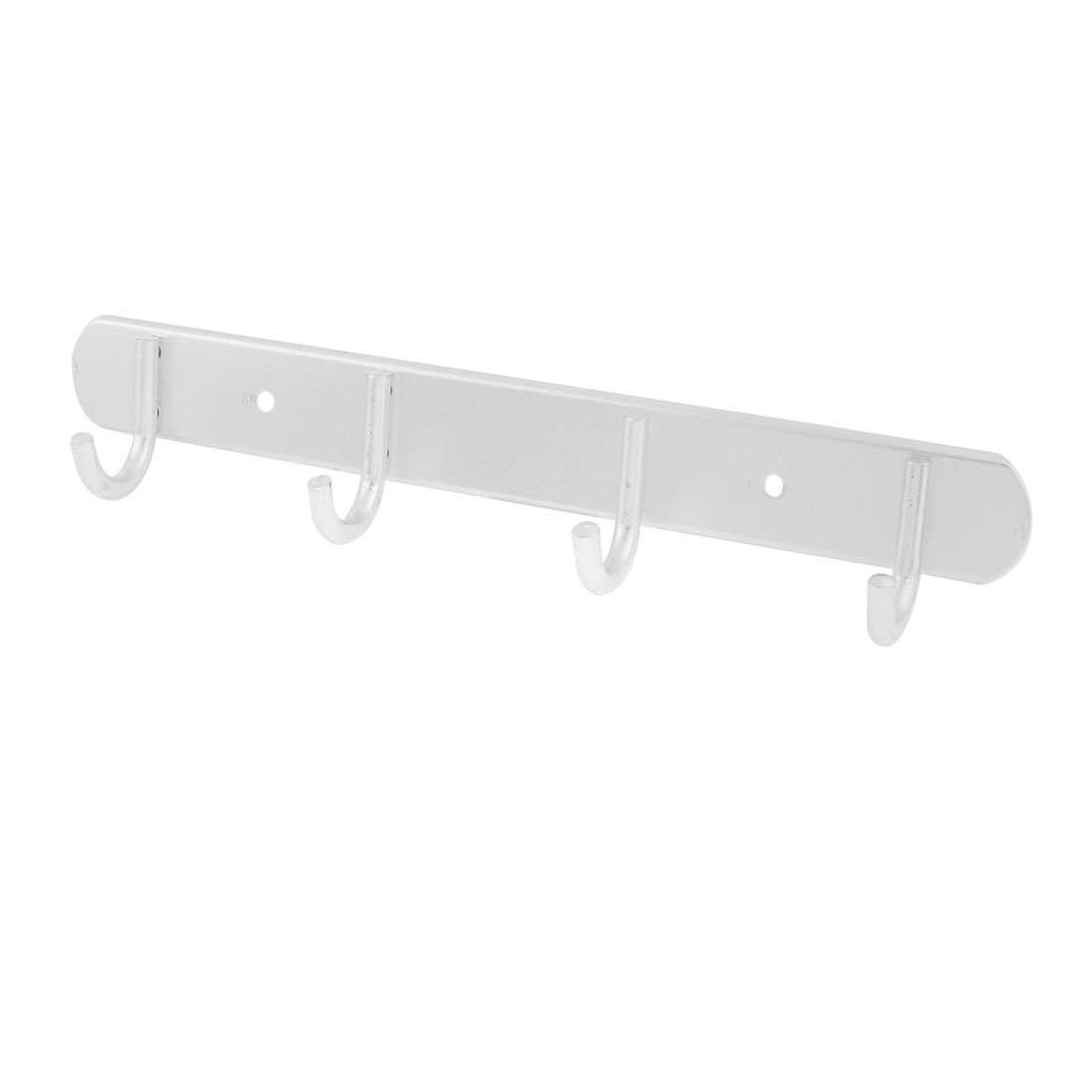 "Household Bathroom Towel Rack Holder Coat Suit Metal 4 Hooks Hanger Wall Door Mounted 11"" Long"