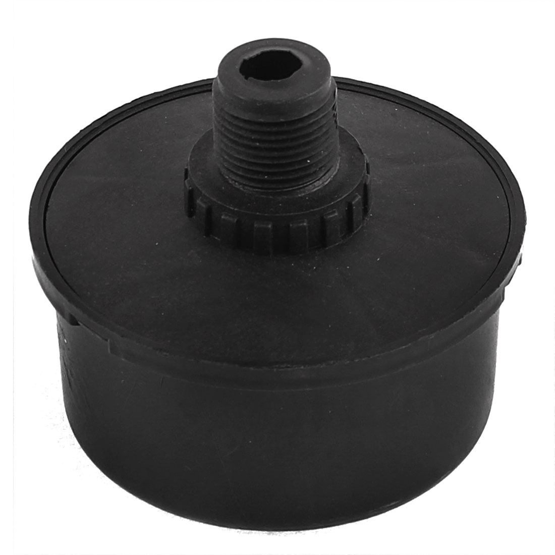 3/8BSP 16mm Thread Diameter Black Admitting Port Air Compressor Intake Filter Silencer Muffler
