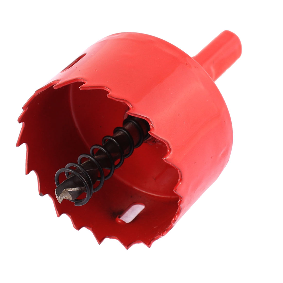 "HSS 50mm 2"" Diameter Wood Aluminum Alloy Drilling Cutting Tool Bimetal Hole Saw Cutter Red"