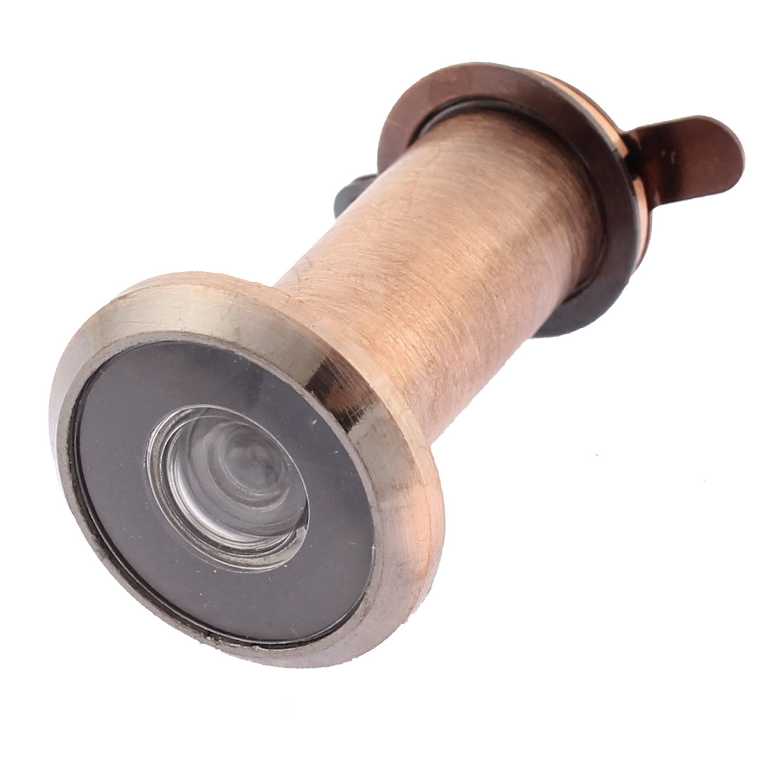 Copper Tone 200 Degree Wide Angle Scope Peephole 35-60mm Door Viewer w Privacy Cover