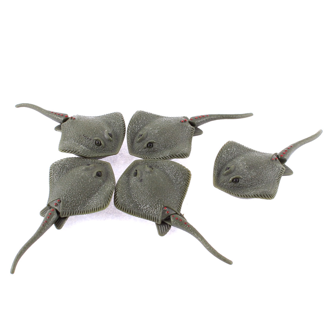 5 Pcs Olive Green Plastic Manmade Emulation Stingray Fish Ornament for Aquarium Fish Tank