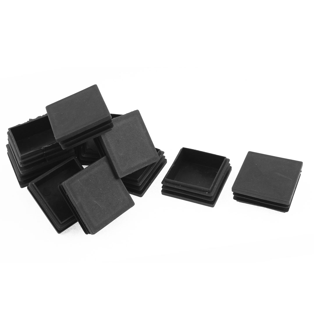 50mm x 50mm Plastic Square Tubing Tube Inserts End Blanking Cover Caps Black 12 Pcs