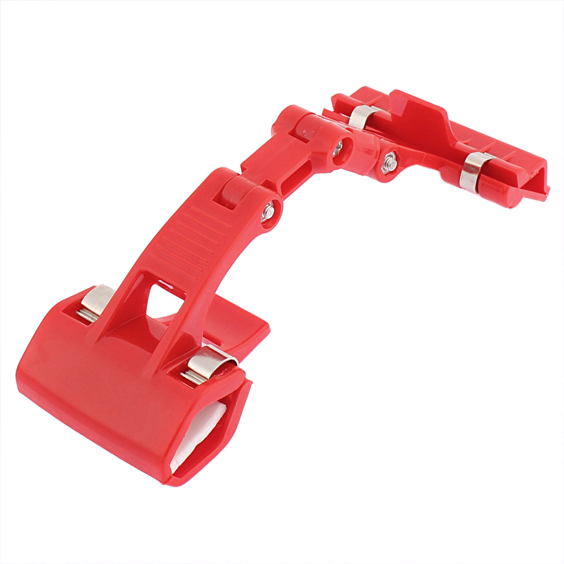 Multipurposes Advertizing Card Plastic 360 Degree Rotatable Rotating Pole Double Clamps Pop Display Holder Clip Red