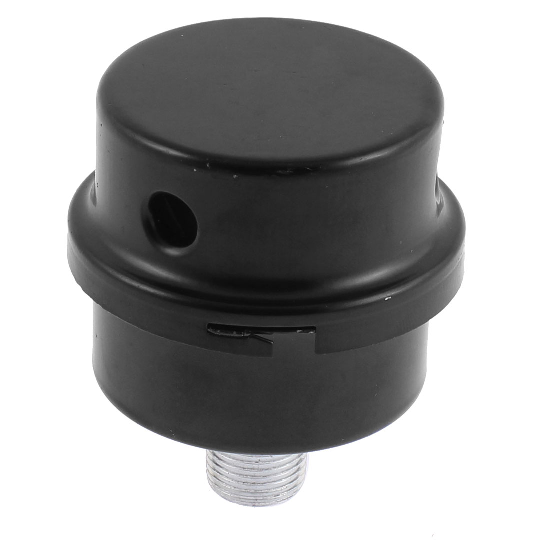 3/8 BSP 16mm Thread Diameter Black Metal Admitting Port Air Compressor Intake Filter Silencer Muffler