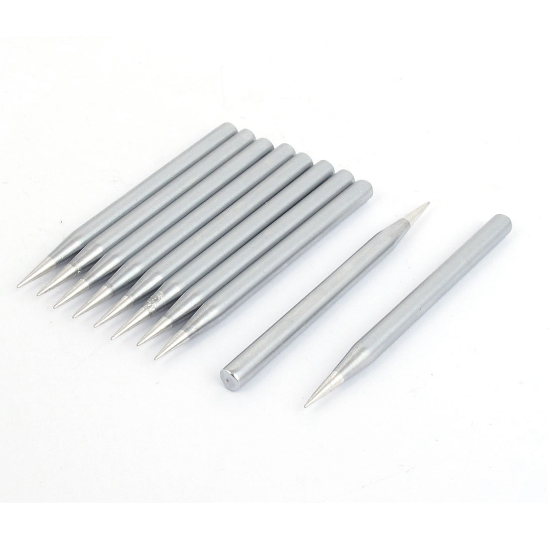 Replaceable 40W-4B 64mm Long 4.5mm Dia Shank 0.5mm Diameter Tip Welding Solder Soldering Iron Point Head 10 Pcs