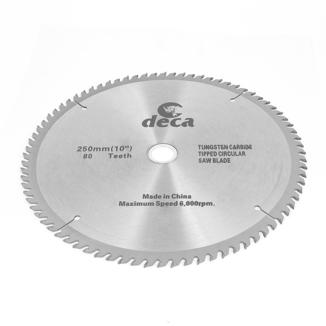 Wood Cutting 250mm Diameter 6000RPM Speed Round Metal 80T Saw Cutter Hand Tool Gray