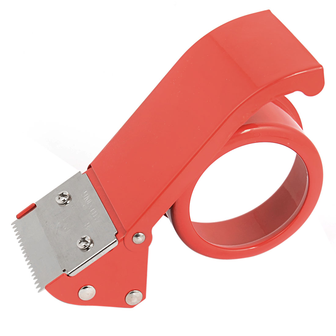 "Desktop Packing Packaging Sealing 2"" Width 8mm Inner Dia Adhesive Tape Roll Cutter Dispenser Gun Red"