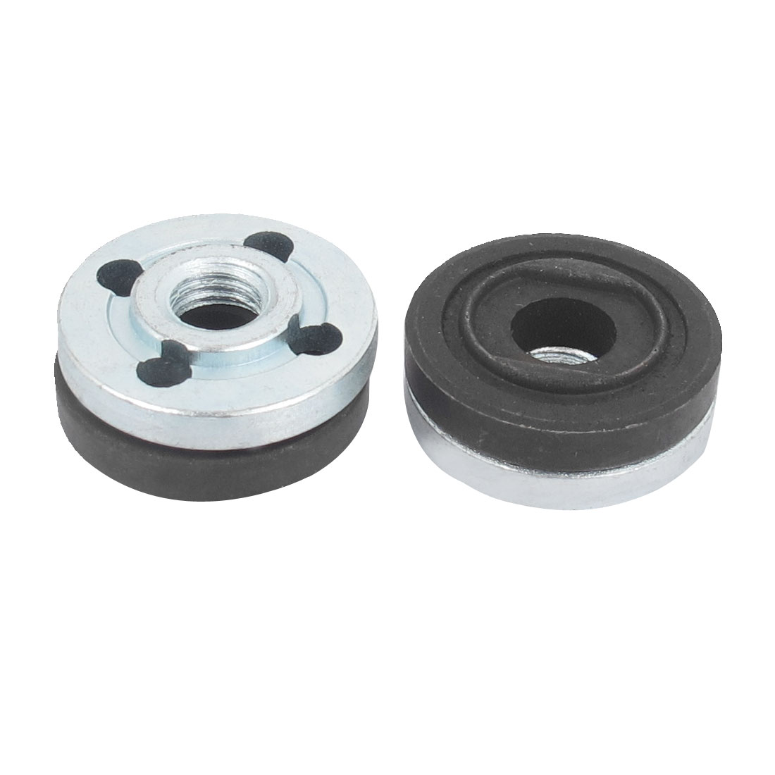 2 Pair Black Silver Tone Metal Round Clamp Cut off Machine Replacement Metal Inner Outer Nuts Flange for Makita 9523 Angle Grinder