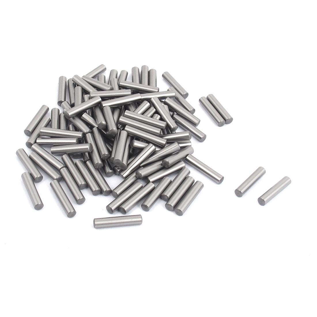 200 Pcs 3.25mm Diameter 15.8mm Length Cylinder Parallel Dowel Pins Fasten Elements Gray