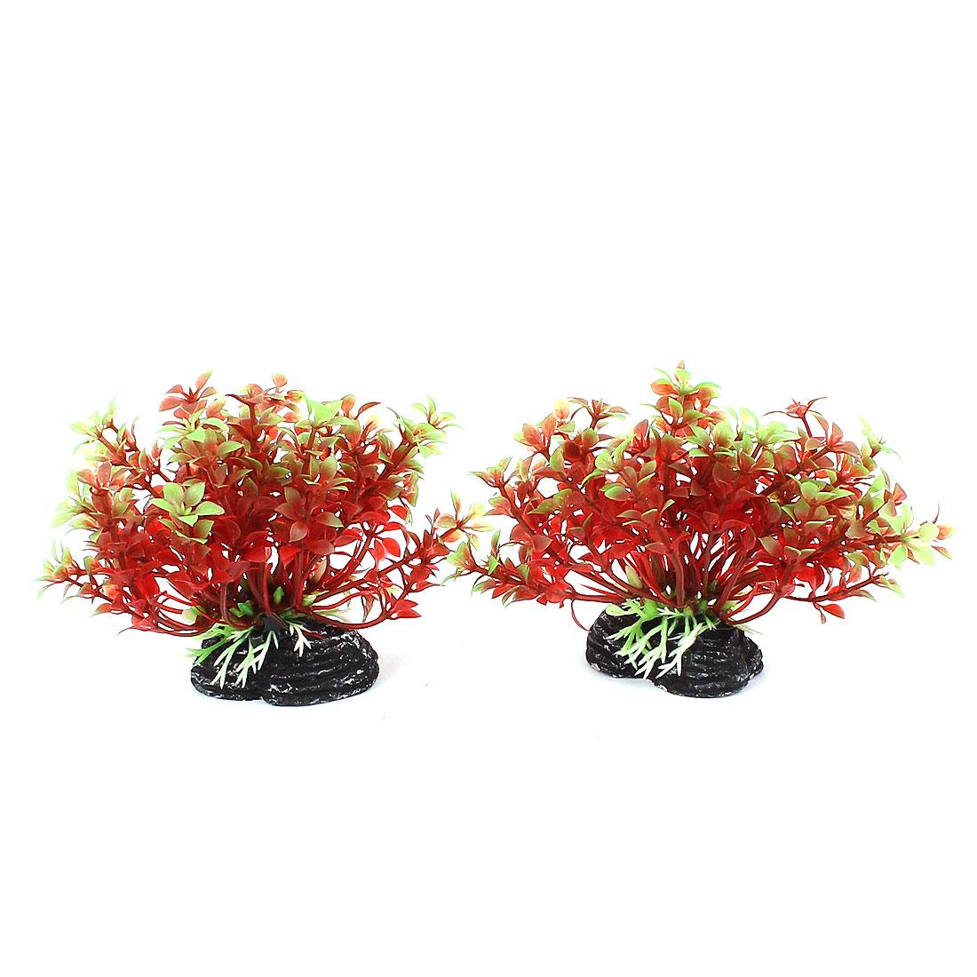Aquarium Artificial Flower Grass Plants Fish Tank Ornaments 2pcs