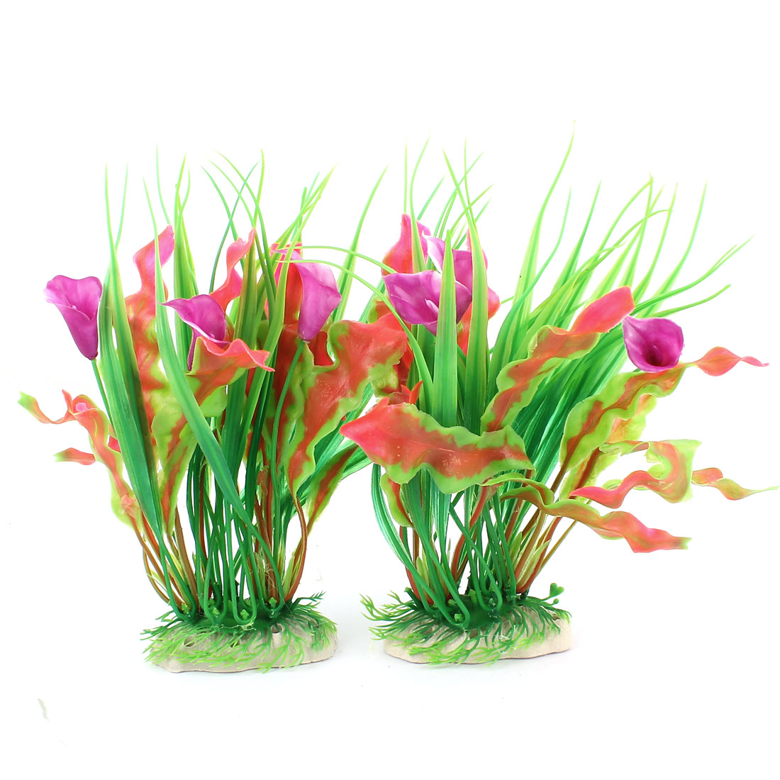 Artificial Underwater Plant Fish Tank Aquarium Decor 2 Pcs
