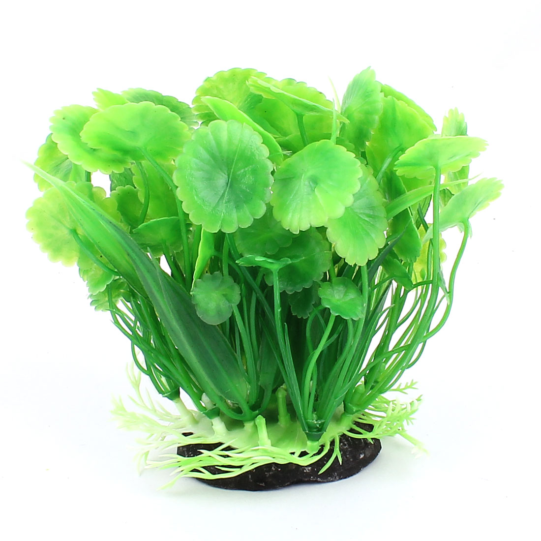 Plastic Leaf Plants Fish Tank Aquarium Decoration Green