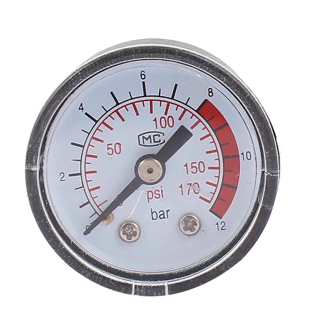 9.8mm 1/8BSP Male Thread Water Air Compressor Pressure Gauge Meter