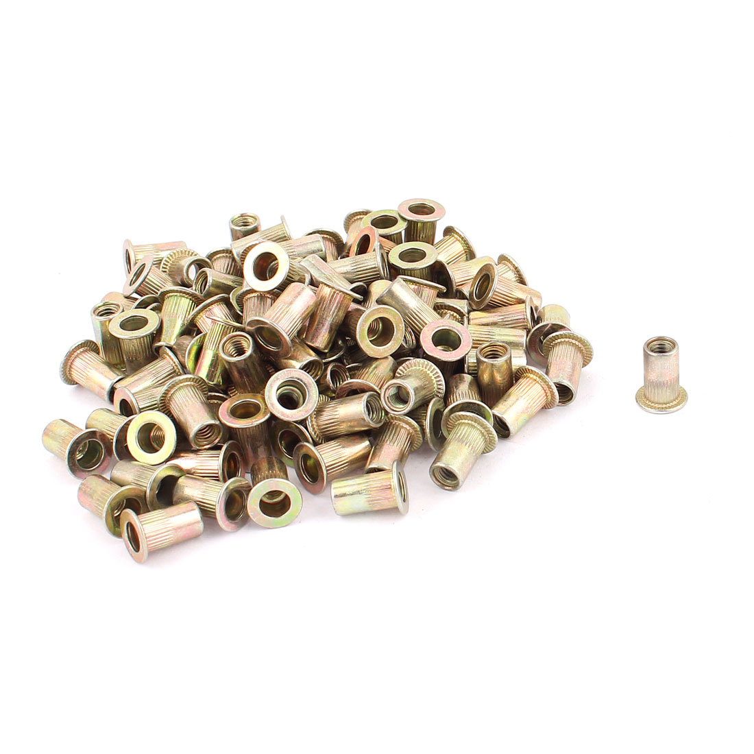 M4 Countersunk Head Open End Female Thread Rivet Nut 100pcs