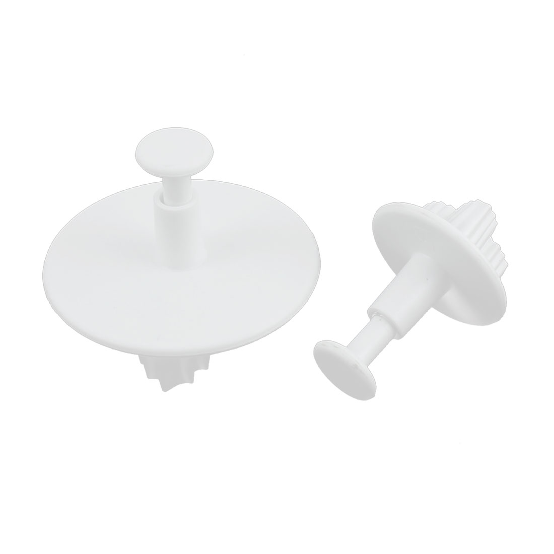 Leaf Shaped Fondant Cake Decorating Mold Mould Plunger Cutter Off White 2 Pcs