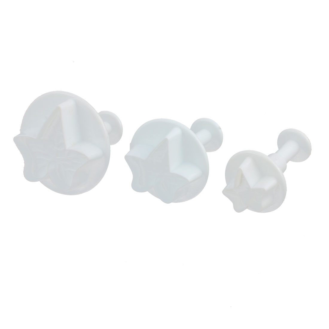 Maple Leaf Shaped Fondant Cake Decorating Mold Mould Plunger Cutter 3 Pcs
