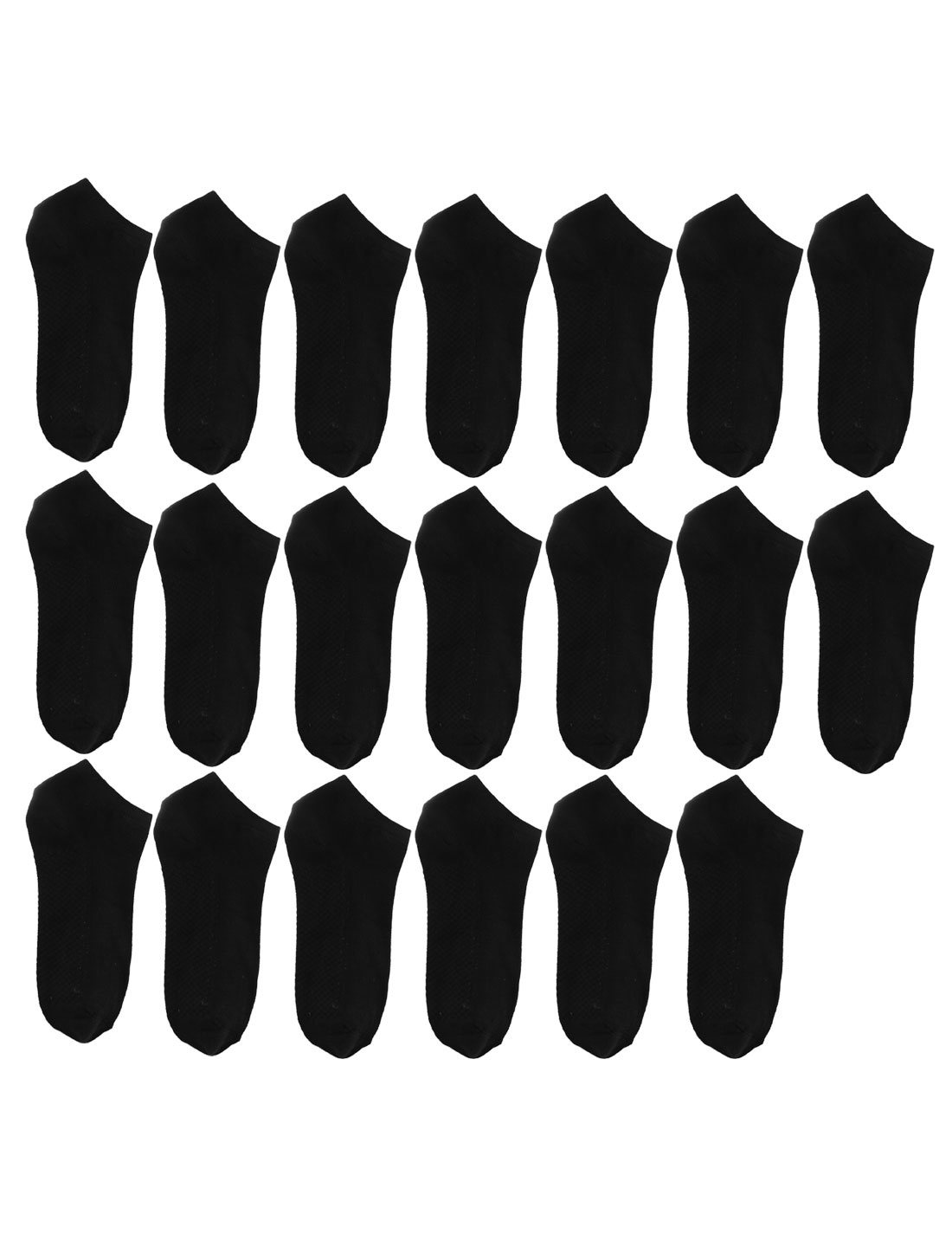 Woman Cotton Blends Elastic Low Cut Sports Casual Ankle Socks Black 10 Pairs