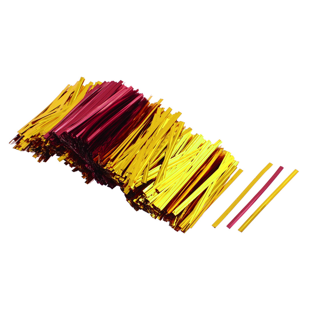 Candy Gift Bags Packaging Twist Ties Gold Tone Burgundy 2400PCS