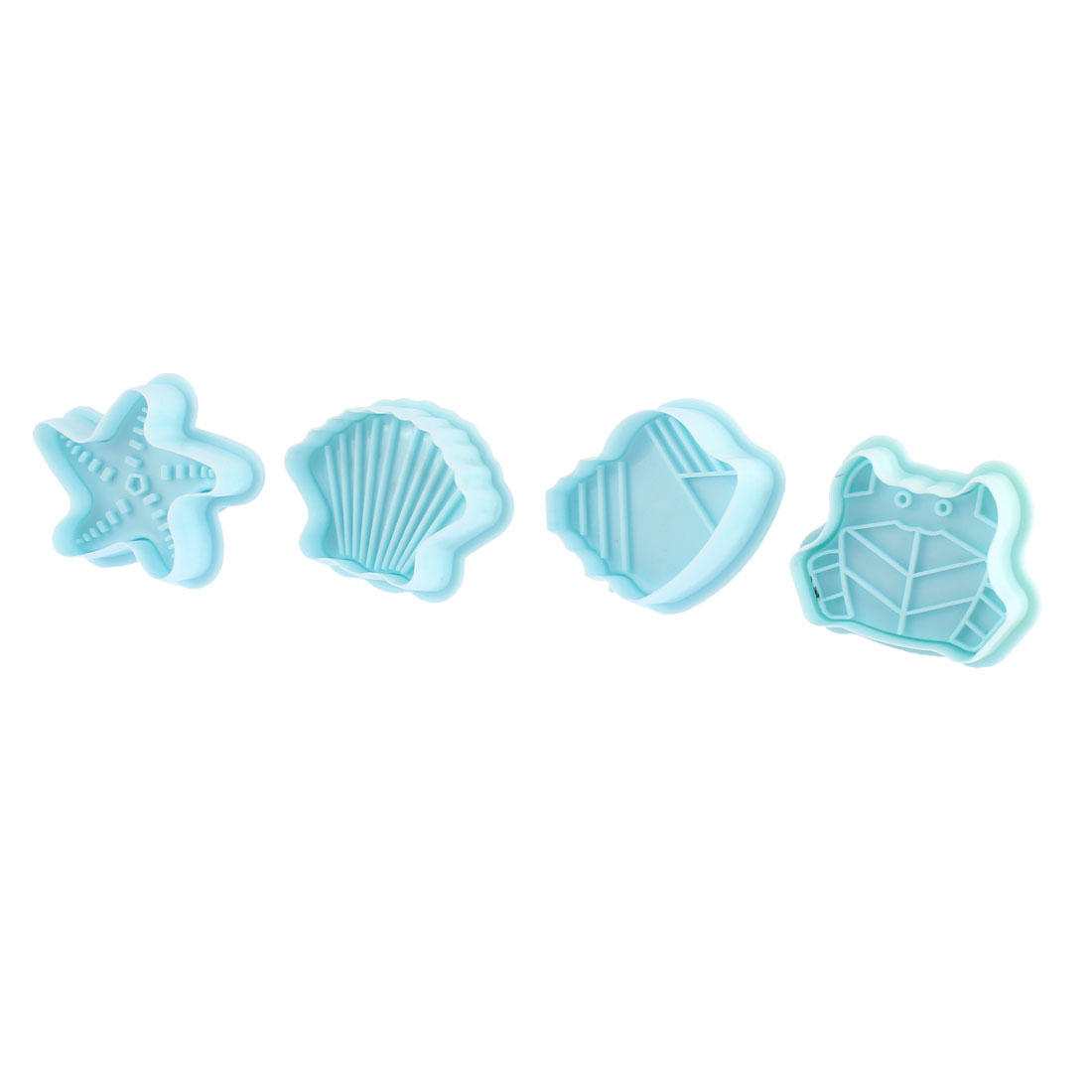 Fondant Cake Decorating Mold Mould Sugarcraft Plunger Cutter Tools 4 Pcs