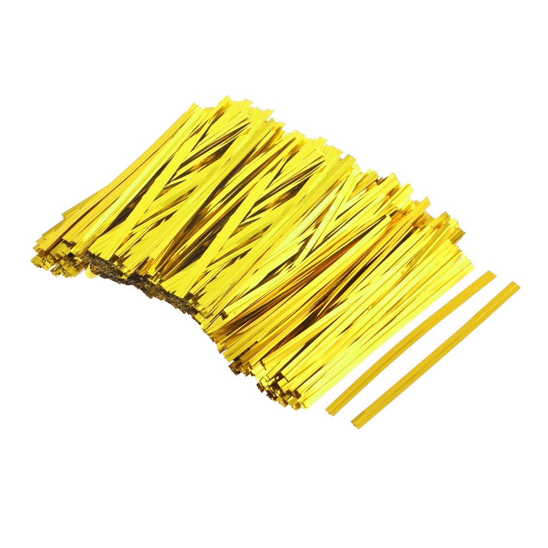 Candy Bread Bags Packaging Twist Tie Gold Tone 800PCS