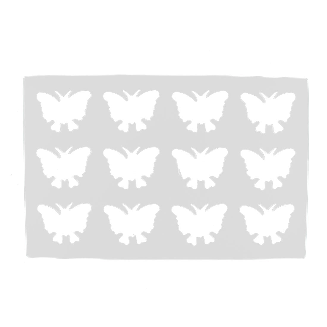 Plastic 12 Cavities Butterfly Design Chocolate Cake Mould