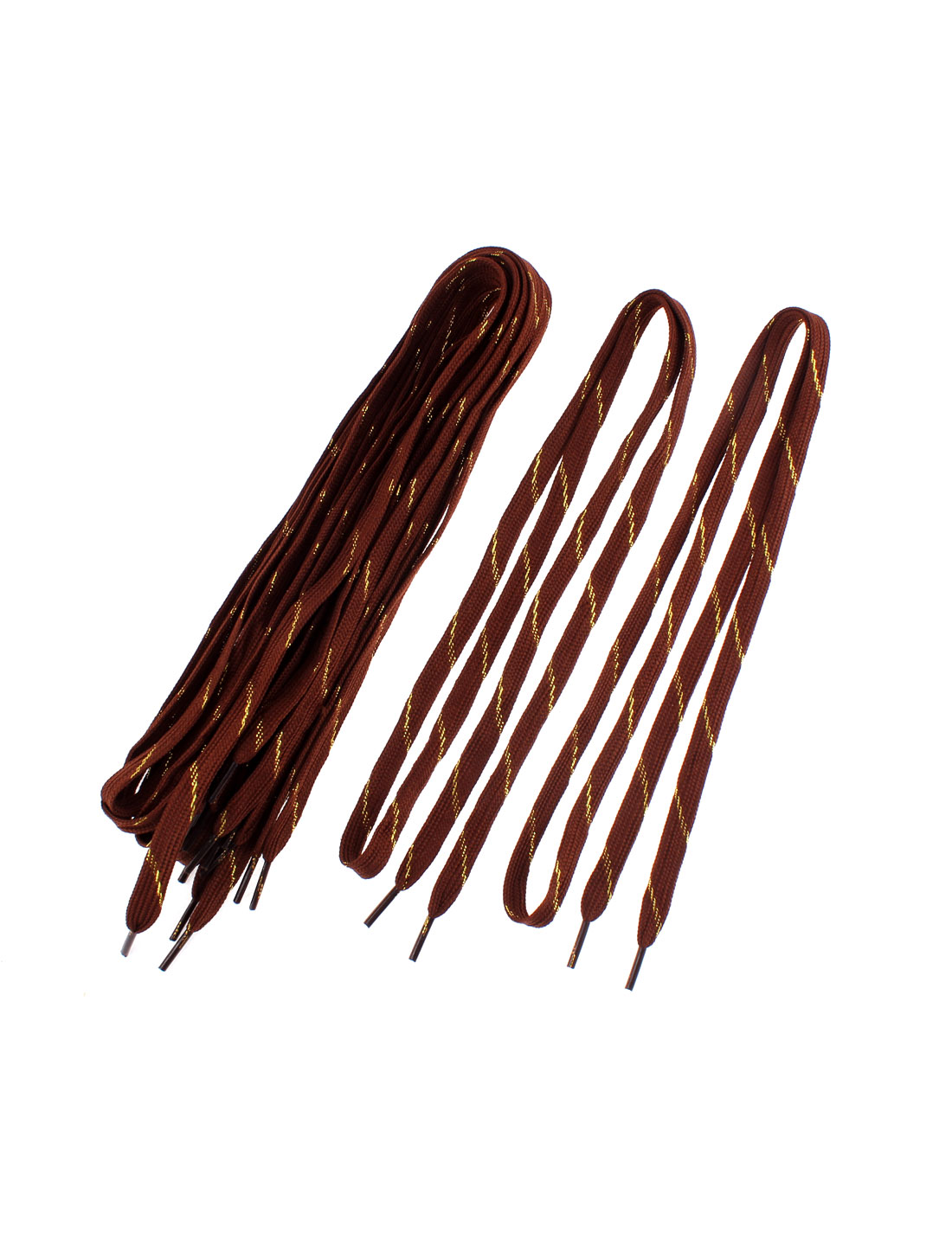 Unisex Sports Leisure Shoes Flat Shoestring Shoelaces Chocolate Color 5 Pairs