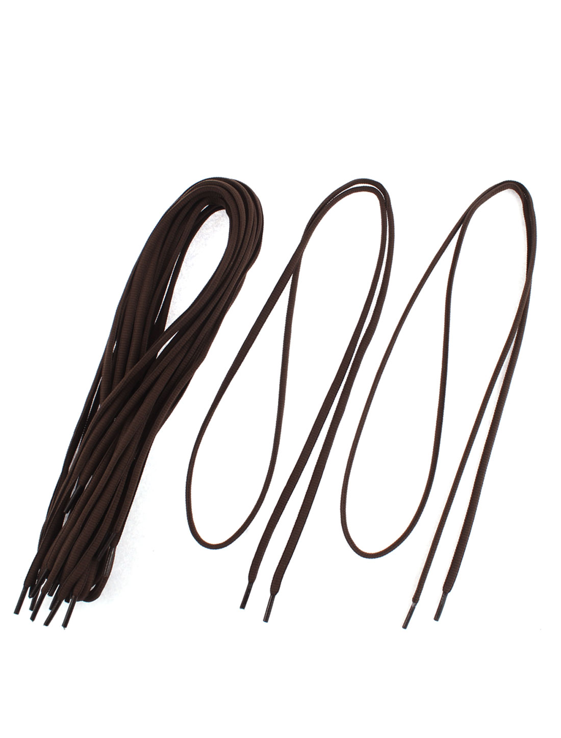 Skateboard Hiking Sport Shoes Shoelaces String Chocolate Color 5 Pairs