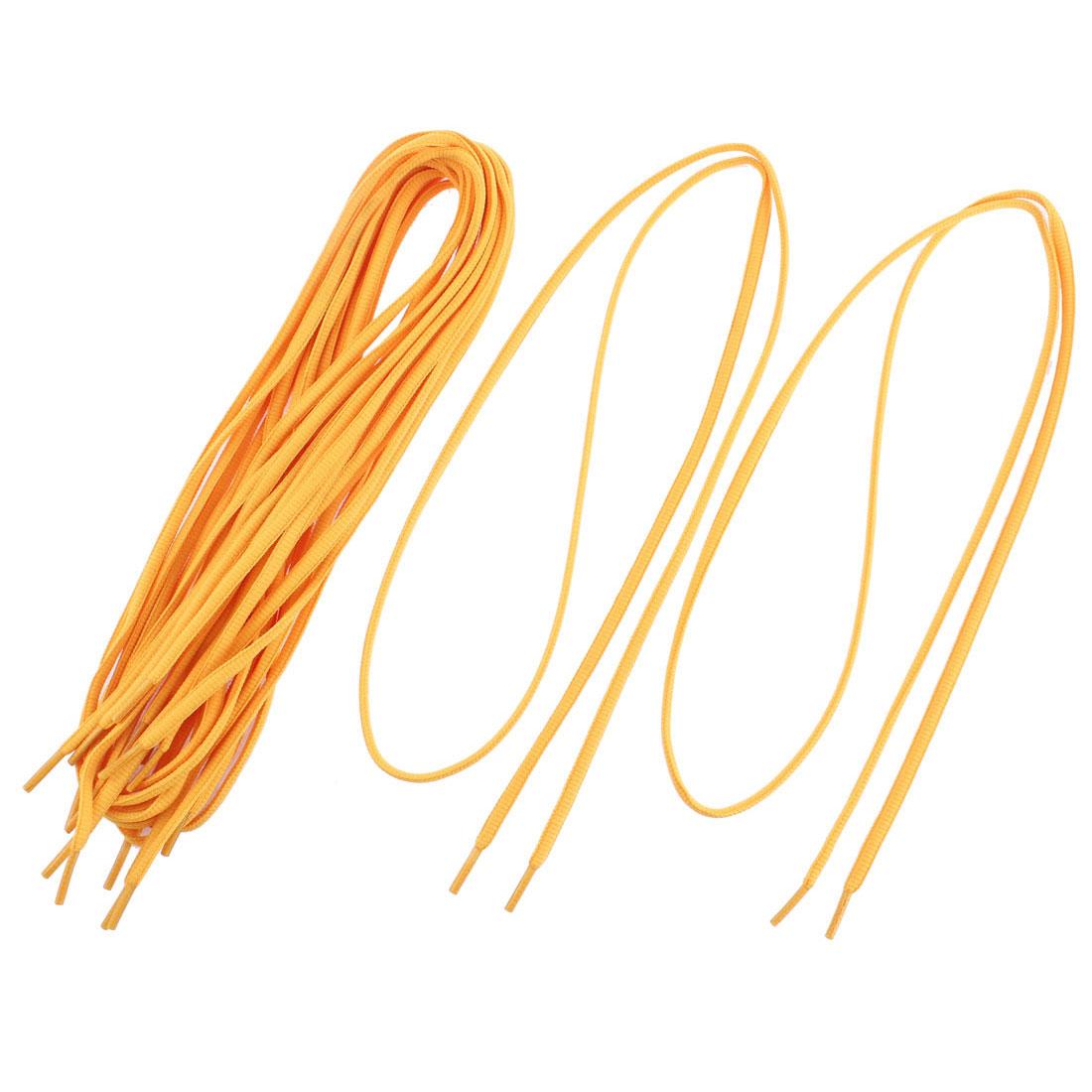 Skateboard Hiking Athletic Shoes Shoelaces String Orange 5 Pairs