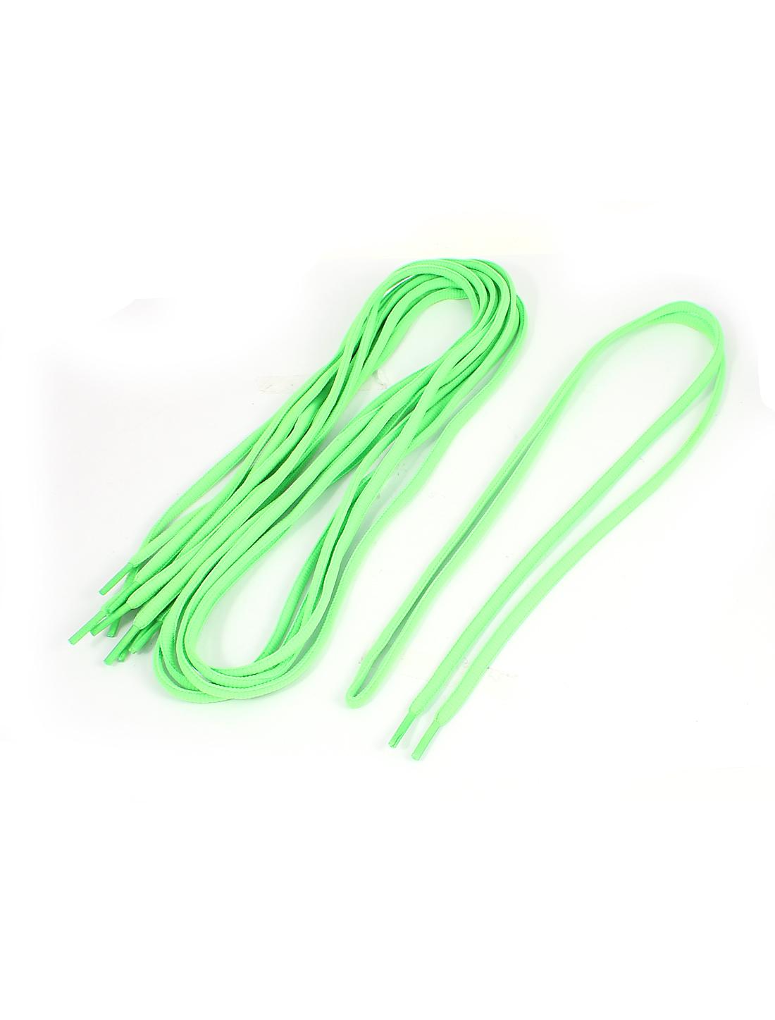 Athletic Sports Sneaker Shoelace Strings Dark Green 3 Pairs