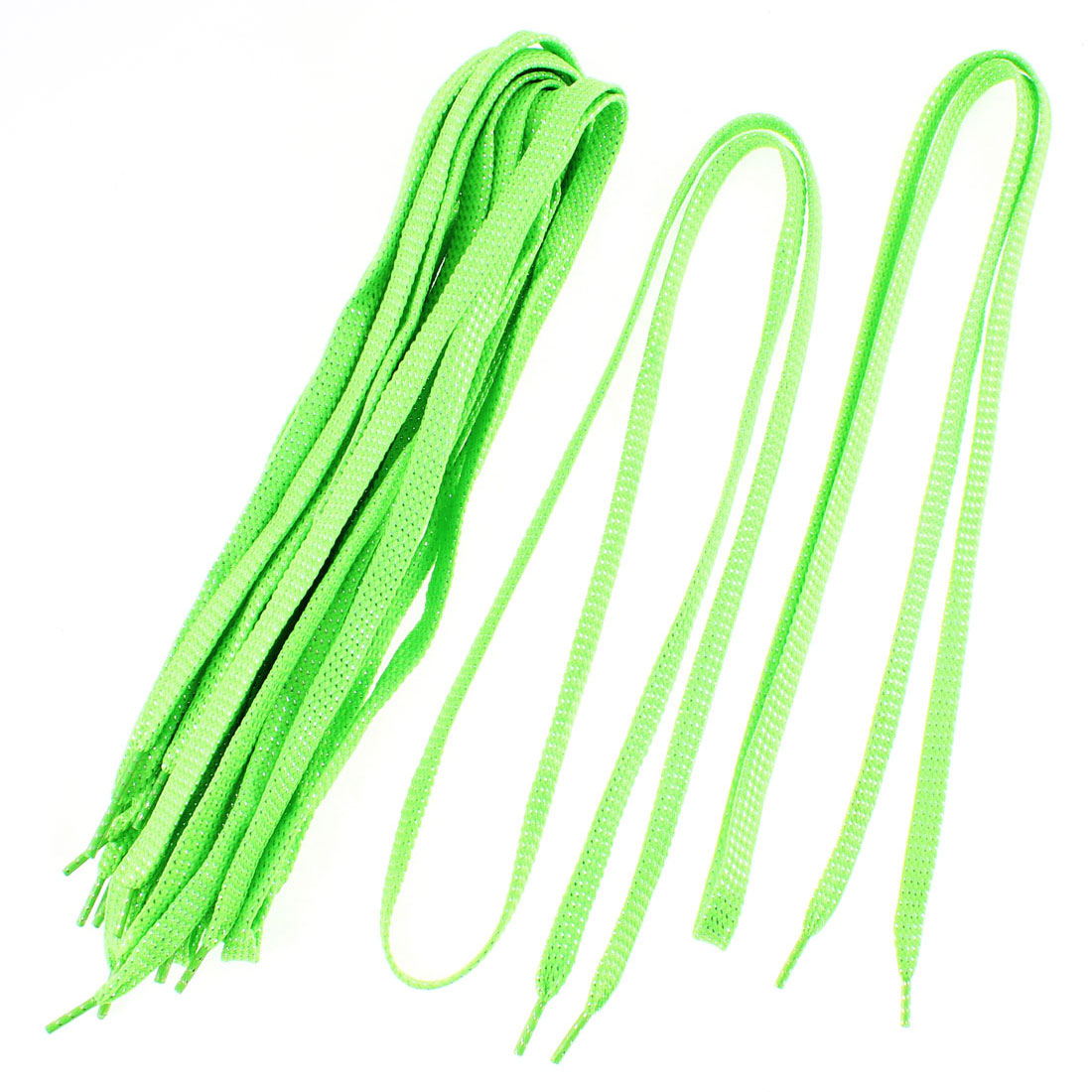 Sneakers Leisure Shoes Cotton Blend Flat Shoestring Shoelaces Green 5 Pairs