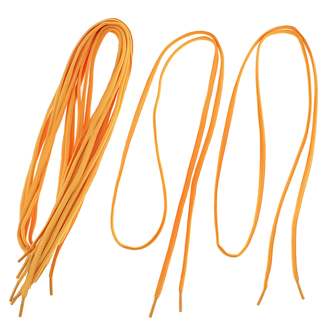 "Athletic Sports Sneaker Shoe Laces String Orange 43"" Length 4 Pairs"