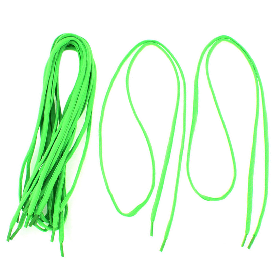 "Athletic Sports Sneaker Shoe Laces String Green 43"" Length 4 Pairs"