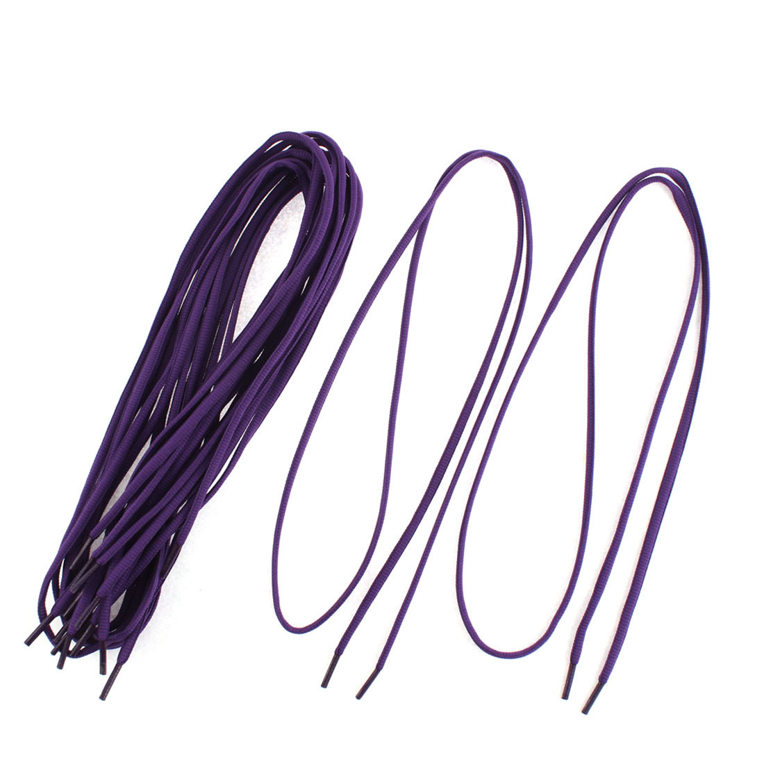 Sports Sneaks Canvas Shoes Shoelaces String Dark Purple 5 Pairs
