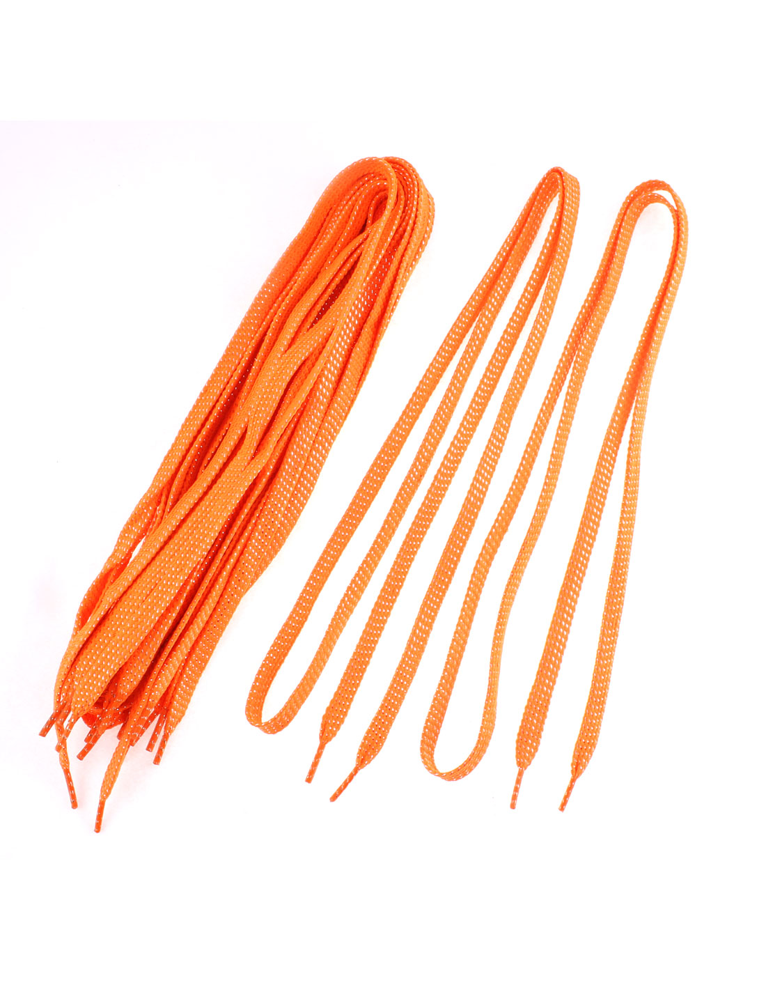 Sneakers Leisure Shoes Cotton Blend Flat Shoestring Shoelaces Orangered 5 Pairs