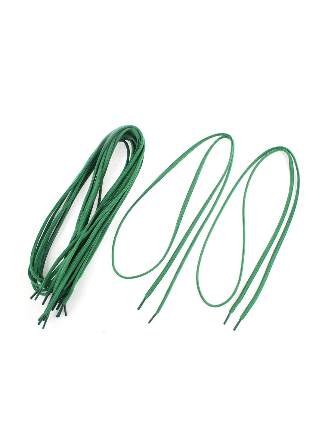Athletic Sport Canvas Shoes Shoelaces String Dark Green 5 Pairs