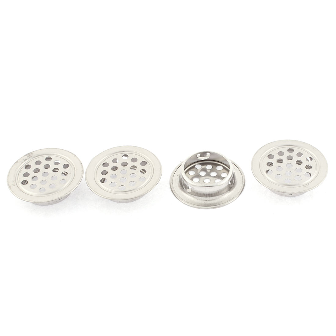 Kitchen Cabinet Round Shaped Mesh Hole Air Vents Louvers 35mm Dia 4pcs