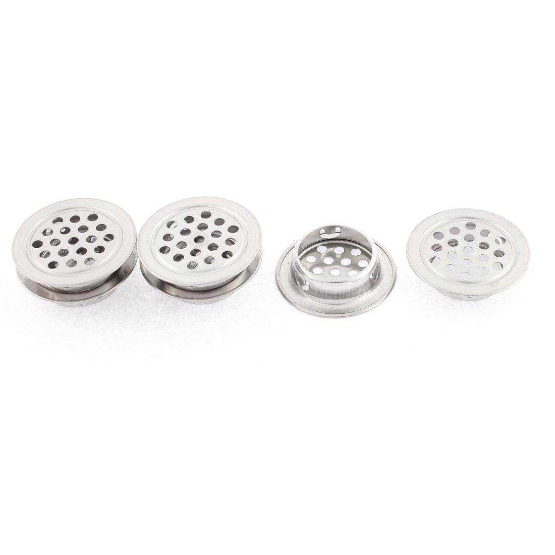 Kitchen Cabinet Round Design Mesh Hole Air Vents Louvers 35mm Dia 6pcs